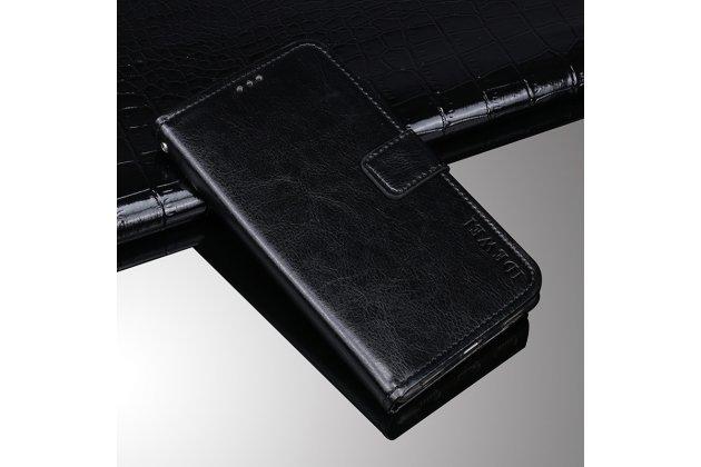 Фирменный чехол-книжка из качественной импортной кожи с подставкой застёжкой и визитницей для Asus Zenfone Max Pro (ZB602KL /ZB601KL) черный