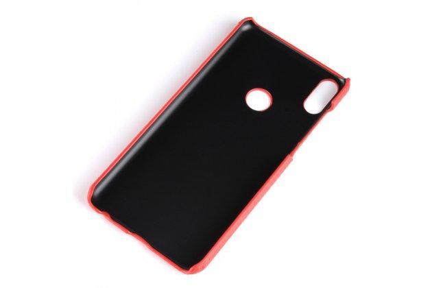 Фирменная роскошная элитная премиальная задняя панель-крышка на пластиковой основе обтянутая лаковой кожей крокодила  для Asus Zenfone Max Pro (ZB602KL /ZB601KL) коричневый