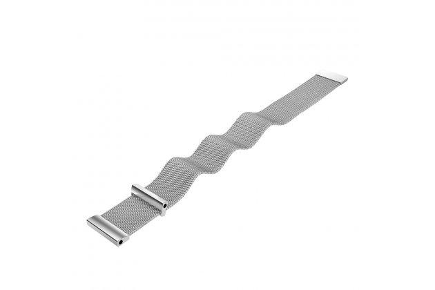Фирменный миланский магнитный сменный сетчатый плетёный ремешок для умных смарт-часов Garmin Fenix 3/ Fenix 3 HR/HRM из нержавеющей стали с магнитным замком