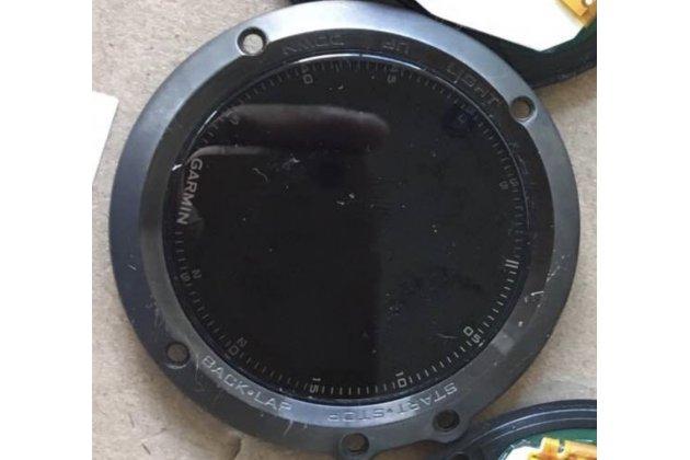 Фирменный LCD-ЖК-сенсорный дисплей-экран-стекло в сборе с тачскрином на смарт-часы Garmin Fenix 3/ Fenix 3 HR/HRM черный + гарантия