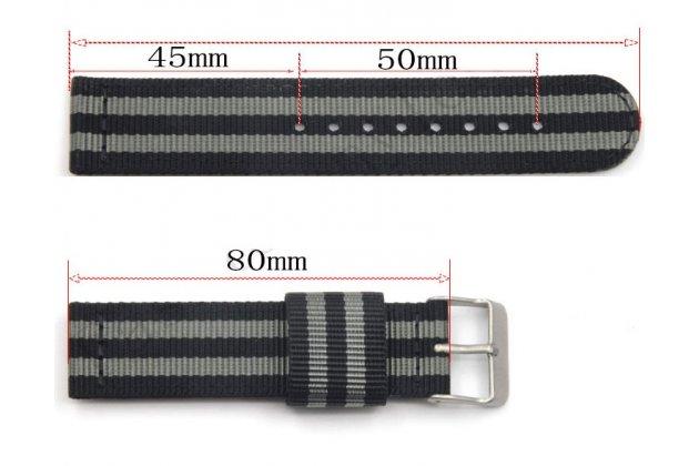 Фирменный сменный тканевый ремешок для умных смарт-часов Garmin Forerunner 920/920XT из ультра-прочного плотного качественного нейлона с дизайном «Спорт»