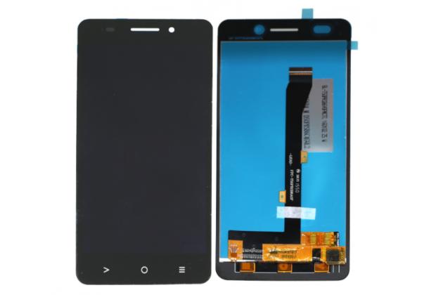 Фирменный LCD-ЖК-сенсорный дисплей-экран-стекло в сборе с тачскрином на телефон Highscreen Power Five EVO черный + гарантия