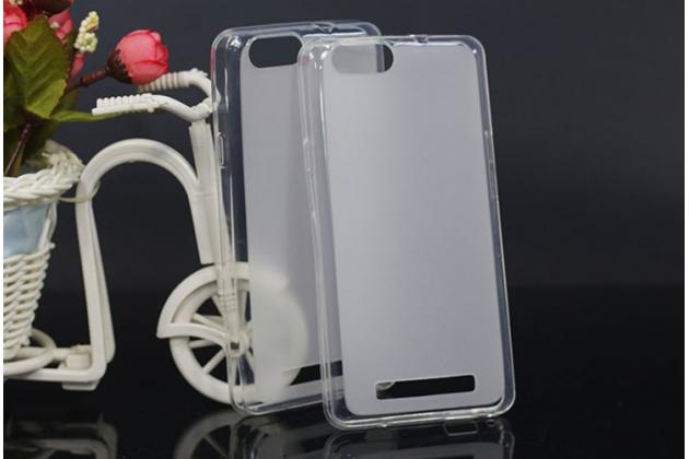 Фирменная ультра-тонкая полимерная из мягкого качественного силикона задняя панель-чехол-накладка для Highscreen Power Five EVO белая