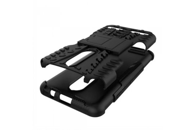 Противоударный усиленный ударопрочный фирменный чехол-бампер-пенал для Lenovo K6/ K6 Power 5.0 черный