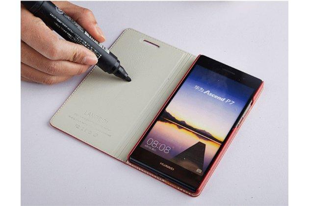 """Фирменный чехол-книжка из качественной импортной кожи с мультиподставкой для Lenovo Vibe B / A1010 (A2016A40) PA4R0021RU 4.5"""" коричневый"""