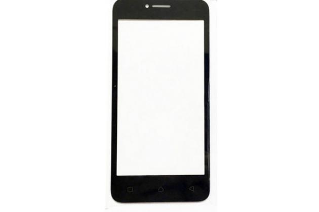 """Фирменное 3D защитное изогнутое стекло с закругленными изогнутыми краями которое полностью закрывает экран / дисплей по краям с олеофобным покрытием для Lenovo Vibe B / A1010 (A2016A40) PA4R0021RU 4.5"""" черное"""