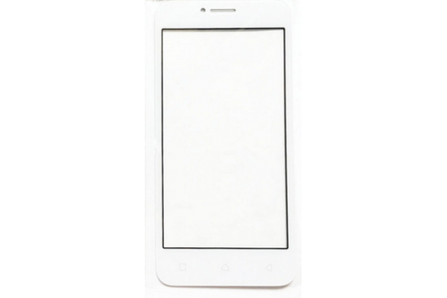 """Фирменное 3D защитное изогнутое стекло с закругленными изогнутыми краями которое полностью закрывает экран / дисплей по краям с олеофобным покрытием для Lenovo Vibe B / A1010 (A2016A40) PA4R0021RU 4.5"""" белое"""