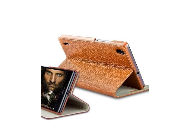 """Фирменный чехол-книжка из качественной импортной кожи с мультиподставкой для Lenovo Vibe B / A1010 (A2016A40) PA4R0021RU 4.5"""" красный"""