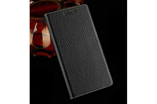 """Фирменный чехол-книжка из качественной импортной кожи с мультиподставкой для Lenovo Vibe B / A1010 (A2016A40) PA4R0021RU 4.5"""" черный"""