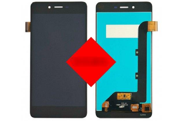 Фирменный LCD-ЖК-сенсорный дисплей-экран-стекло в сборе с тачскрином на телефон Highscreen Easy S черный + гарантия
