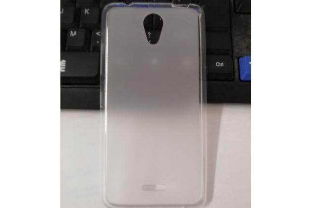 Фирменная ультра-тонкая полимерная из мягкого качественного силикона задняя панель-чехол-накладка для Highscreen Easy S белая