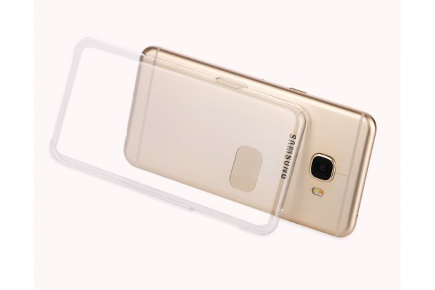 Фирменная ультра-тонкая пластиковая задняя панель-чехол-накладка для Samsung Galaxy C5 Pro / Galaxy C5 2017 (SM-C5010) прозрачная