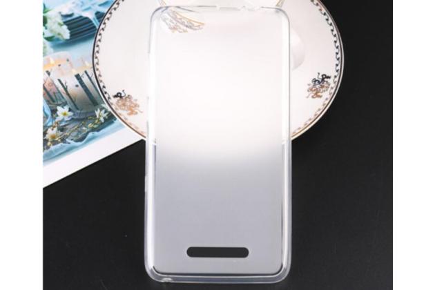 Фирменная ультра-тонкая полимерная из мягкого качественного силикона задняя панель-чехол-накладка для BQ BQS-5520 Mercury / BQ Mobile BQS-5520 Mercury белая