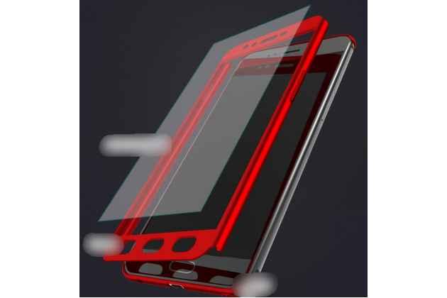 Фирменный уникальный чехол-бампер-панель с полной защитой дисплея и телефона по всем краям и углам для Oppo A57 черный