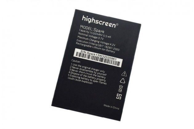 Фирменная аккумуляторная батарея 1500mAh Spark на телефон Highscreen Spark + инструменты для вскрытия + гарантия