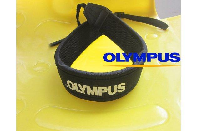 Фирменный сменный наплечный ремешок для фотоаппарата Olympus E-410/E-420/E-450/E-500/E-510/E-520/E-600/E-620 черного цвета