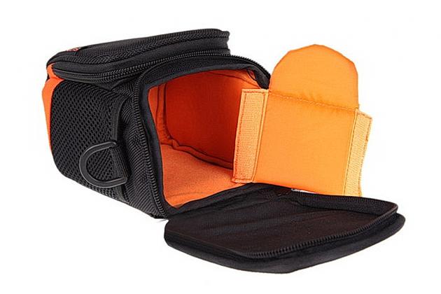 Фирменный оригинальный чехол-сумка-бокс для фотоаппарата Fujifilm FinePix F550EXR/F600 EXR/ F60fd/F660EXR/F70EXR/F750EXR с отделением для дополнительных аксессуаров из высококачественного материала