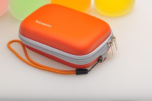 Чехол-бокс для фотоаппарата Olympus Mju 7050/ Mju 9000/ Mju TOUGH-3000/ Mju TOUGH-6000/ Mju TOUGH-6010/ Mju TOUGH-6020 из высококачественного материала оранжевый