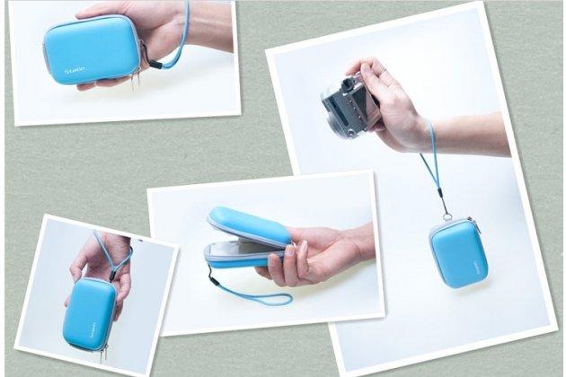 Чехол-бокс для фотоаппарата Olympus Mju 7050/ Mju 9000/ Mju TOUGH-3000/ Mju TOUGH-6000/ Mju TOUGH-6010/ Mju TOUGH-6020 из высококачественного материала голубой