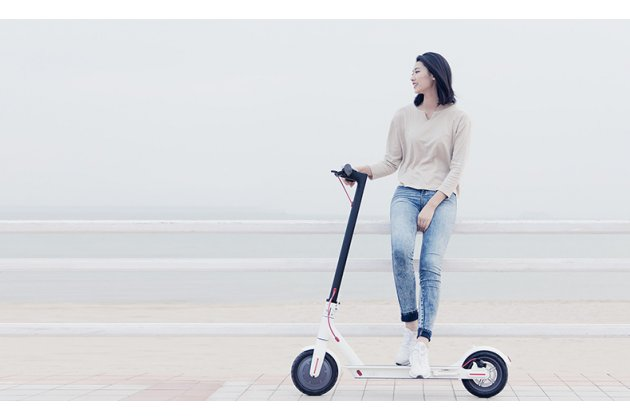 Фирменный оригинальный электрический самокат для взрослых Xiaomi MIJIA Electric Scooter (30 км без подзарядки / 25 км/ч / вес 12.5 кг)
