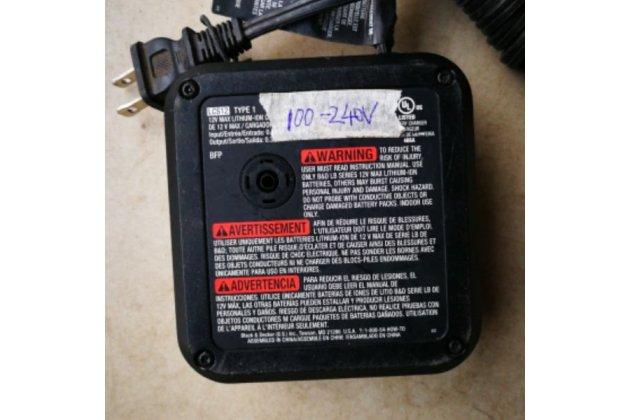 Фирменное зарядное устройство блок питания от сети для шуруповерта Black Decker 12 вольт 12v + гарантия