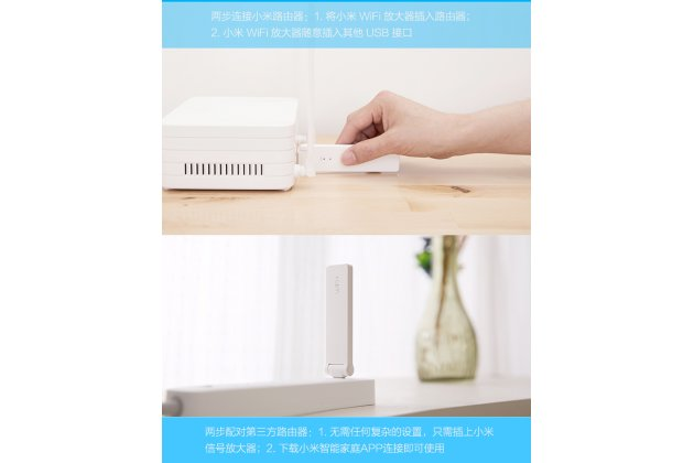 Фирменный оригинальный Wi-Fi-усилитель сигнала (репитер) Xiaomi Mi Wi-Fi Range Extender / Amplifier 1 (USB 2.0 / 300 Мбит/с) + Гарантия