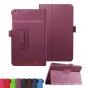 Фирменный чехол-обложка с подставкой для Acer Iconia One B1-850 (NT.LC4EE.002) фиолетовый кожаный..
