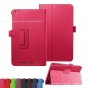 Фирменный чехол-обложка с подставкой для Acer Iconia One B1-850 (NT.LC4EE.002) малиновый кожаный..