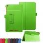 Фирменный чехол-обложка с подставкой для Acer Iconia One B1-850 (NT.LC4EE.002) зеленый кожаный..