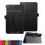 Фирменный чехол-обложка с подставкой для Acer Iconia One B1-850 (NT.LC4EE.002) черный кожаный..