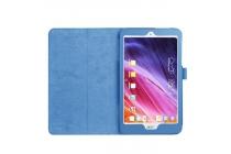Фирменный чехол-обложка с подставкой для Acer Iconia Tab A1-860 голубой кожаный