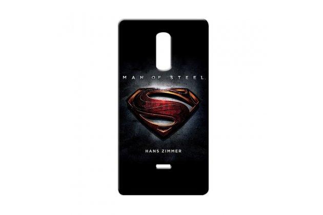 """Фирменная роскошная задняя панель-чехол-накладка  из мягкого силикона с безумно красивым расписным 3D рисунком на Alcatel A3 XL 9008D/9008X тематика """"Superman"""""""