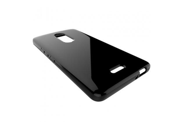 Фирменная ультра-тонкая полимерная из мягкого качественного силикона задняя панель-чехол-накладка для Alcatel A3 XL 9008D/9008X черная