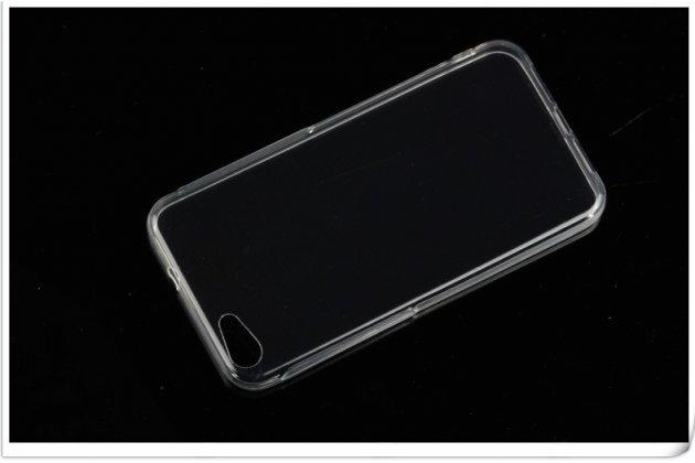 Фирменная ультра-тонкая полимерная из мягкого качественного силикона задняя панель-чехол-накладка для Alcatel A5 Led 5058D / 5085Y 5.2 прозрачная