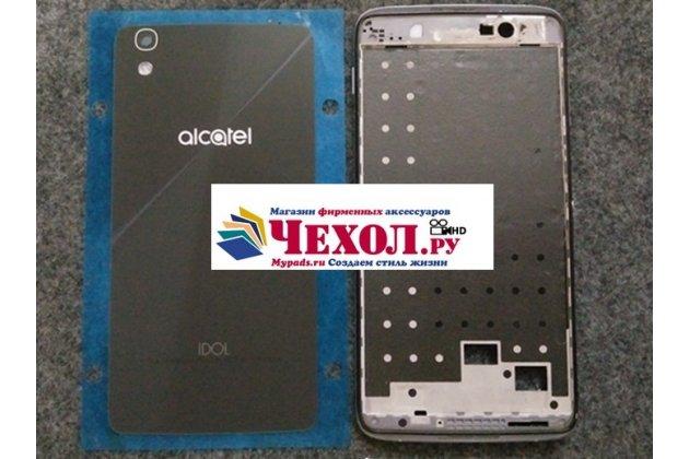 Родная оригинальная задняя крышка-панель которая шла в комплекте для Alcatel IDOL 4 6055K 5.2 / Idol 4 5.2 черная