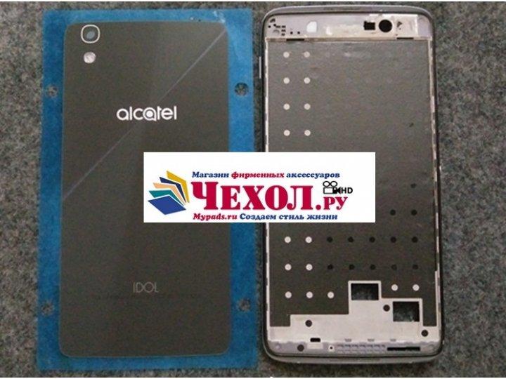 Родная оригинальная задняя крышка-панель которая шла в комплекте для Alcatel IDOL 4 6055K 5.2 / Idol 4 5.2 чер..