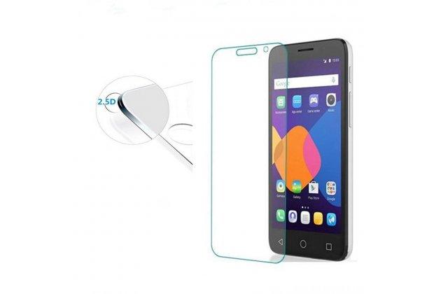 Фирменное защитное закалённое противоударное стекло для телефона Alcatel Idol 5 6058D из качественного японского материала премиум-класса с олеофобным покрытием