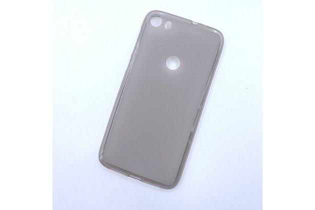 Фирменная ультра-тонкая полимерная из мягкого качественного силикона задняя панель-чехол-накладка для Alcatel Idol 5 6058D серая