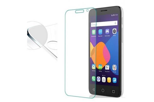Фирменное защитное закалённое противоударное стекло для телефона Alcatel Pixi 4 (5) 5010D из качественного японского материала премиум-класса с олеофобным покрытием