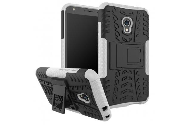 Противоударный усиленный ударопрочный фирменный чехол-бампер-пенал для Alcatel Pixi 4 (5) 5010D белый