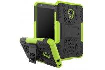 Противоударный усиленный ударопрочный фирменный чехол-бампер-пенал для Alcatel Pixi 4 (5) 5010D зеленый