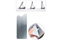 Фирменный чехол-книжка с визитницей и мультиподставкой на жёсткой металлической основе для Alcatel PIXI 4 Plus Power черный из настоящей джинсы