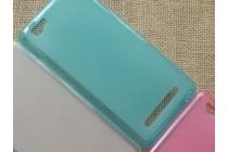 Фирменная ультра-тонкая полимерная из мягкого качественного силикона задняя панель-чехол-накладка для Alcatel PIXI 4 Plus Power голубая