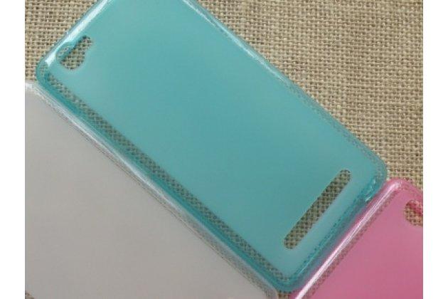 Фирменная ультра-тонкая полимерная из мягкого качественного силикона задняя панель-чехол-накладка для Alcatel PIXI 4 Plus Power черная