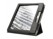 Фирменный чехол-футляр для Amazon Kindle Oasis из импортной кожи с мульти-подставкой и текстурным рисунком чер..
