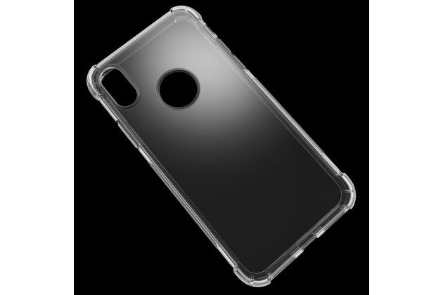 Фирменная ультра-тонкая полимерная из мягкого качественного силикона задняя панель-чехол-накладка для Apple iPhone X (10) прозрачная