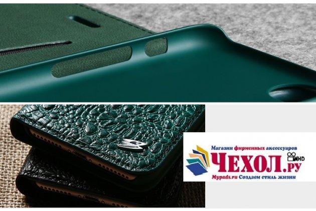 Фирменный роскошный эксклюзивный чехол с объёмным 3D изображением рельефа кожи крокодила зеленый для Apple iPhone X (10) . Только в нашем магазине. Количество ограничено