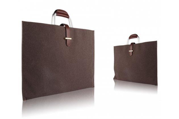 Чехол-сумка-бокс для ASUS Transformer 3 Pro T303UА (GN052T) 12.6 с отделением для дополнительных аксессуаров из высококачественного материала коричневый