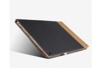 Фирменный уникальный необычный чехол-подставка для ASUS Transformer 3 T305CA (GW014T) 12.6 черный кожаный с золотой полосой