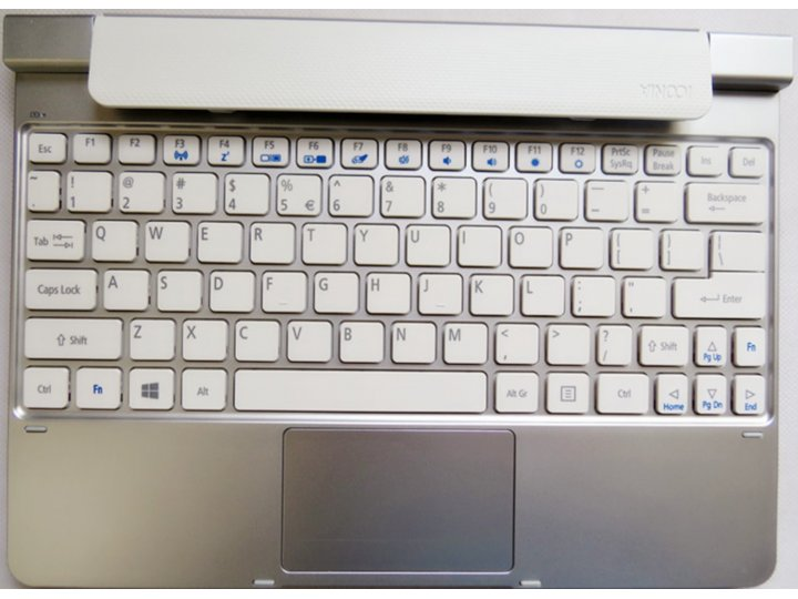 Фирменная оригинальная съемная клавиатура/док-станция/база для планшета Acer Iconia Tab W5/W510/W511 серебрист..